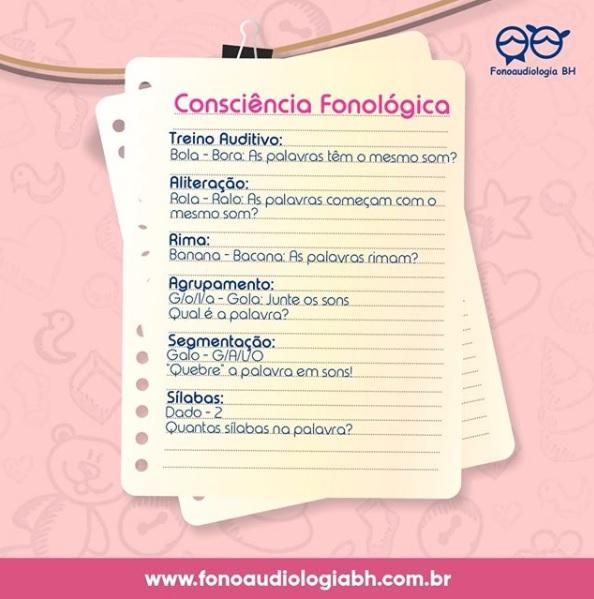 Consciência fonológica ⠀